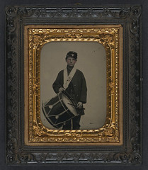 [Samuel W. Doble of Company D, 12th Maine Infantry Regiment, with drum] (LOC) (The Library of Congress) Tags: usa drum unitedstatesofamerica union civilwar drummer libraryofcongress yankee yankees doble drummerboy thenorth theunion americancivilwar warbetweenthestates uscivilwar thecivilwar xmlns:dc=httppurlorgdcelements11 samuelwdoble samueldoble dc:identifier=httphdllocgovlocpnpppmsca27118