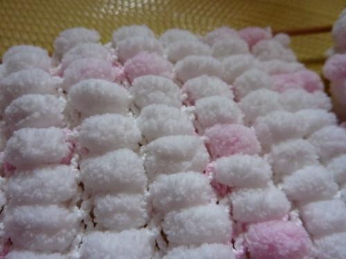 糖果毛線球圍巾