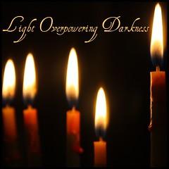 The Meaning of Chanukah (Sarah B in SD) Tags: light holiday dark candles jewish picnik edit 2010 menorah inthedark chanuakah macromondays lightoverpoweringdarkness