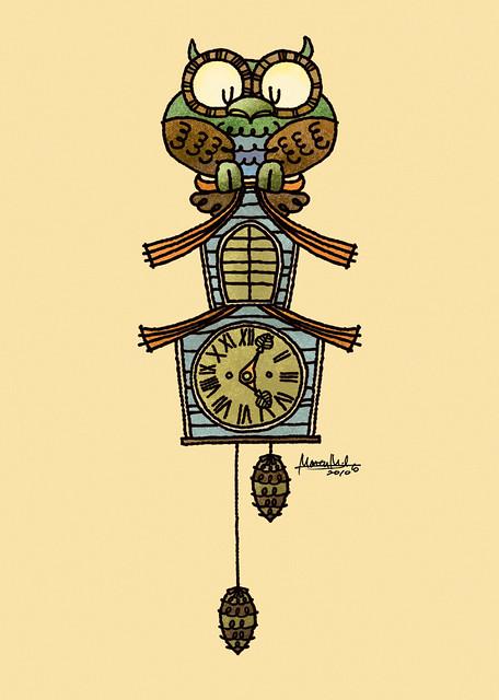 #495 Owl Clock