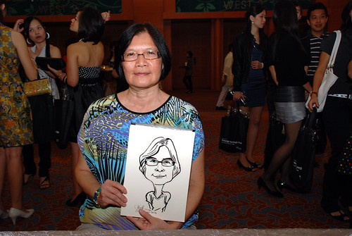 caricature live sketching for Ernst & Young D&D 2010 - 8
