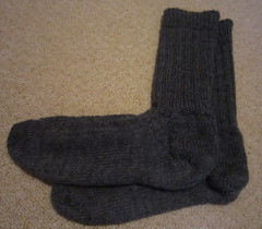 Lichen rib socks