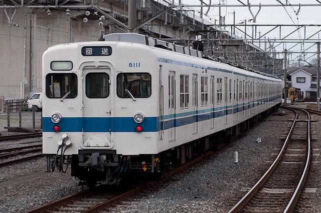 東武東上線8000系8111F 返却回送