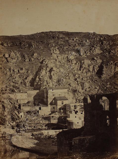Artificio de Juanelo hacia 1865. Fotografía de Jean Laurent