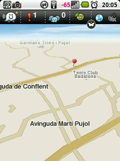 Captura del mapa vertical