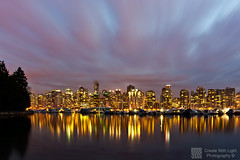 """""""Fade To Pink"""" - Create With Light Photography  (grantmurrayphotography) Tags: park vancouver clouds boats lights long exposure cityscape skyscrapers harbour dusk grant columbia stanley british yachts coal murray carlzeiss 100commentgroup bestcapturesaoi doublyniceshot grantmurray mygearandmepremium mygearandmebronze mygearandmesilver mygearandmegold mygearandmeplatinum mygearandmediamond createwithlightphotography"""