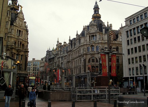 Shopping and Business District of Antwerp, Belgium