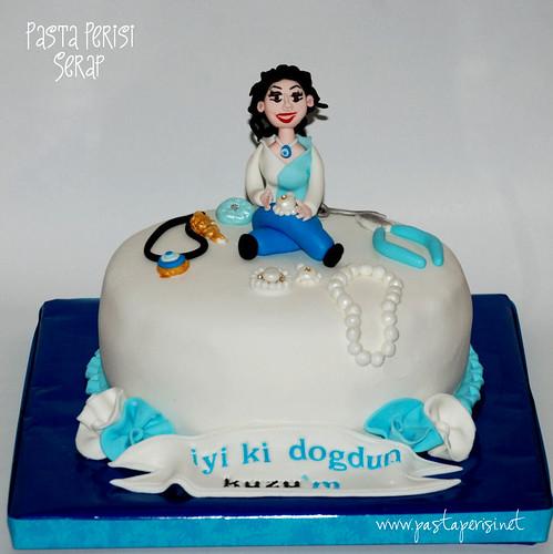 Kolye pasta- takı tasarım pastası
