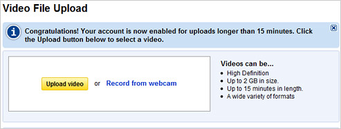 YouTube Increases Limits