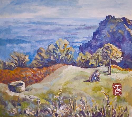 Осенне-вечерний горный луг