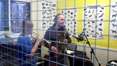 Gary Plumley and student recording