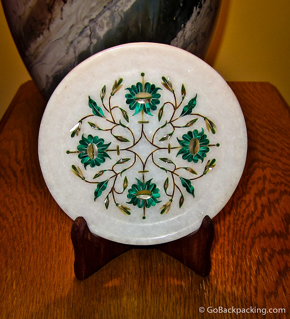 Marble plate from Agra, India