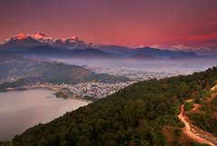 When the light starting to change (Helminadia Ranford) Tags: sunset night clear pokhara annapurna