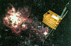 Artist's impression of the Ginga satellite