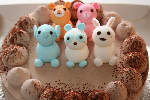 動物もりもりバースデーケーキ