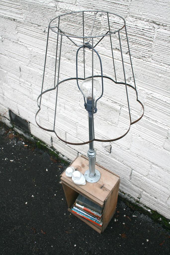 Vintage salvaged lamp