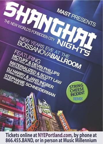Portland Shanghai Nights New Year's Eve Party @ Bossanova Ballroom