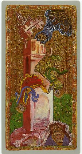014-La torre-Cary-Yale Visconti Tarot Deck