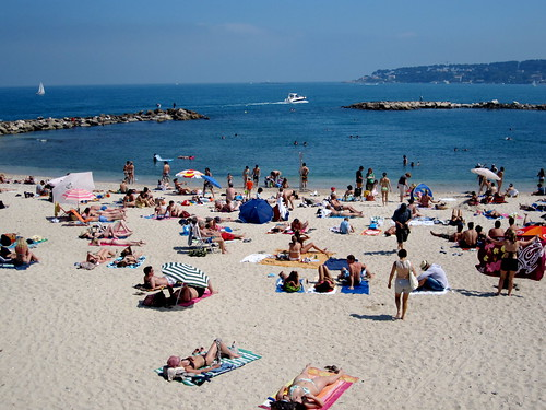 Antibes sandy beach