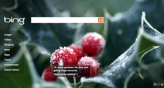 Bing First Day of Winter 2010
