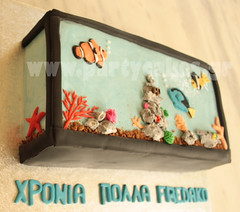 Aquarium cake (Party Cakes By Samantha) Tags: fish cake coral aquarium tank nemo tropical dori