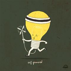 Day 37: Self-Powered (ILoveDoodle) Tags: lightbulb doodle windpower selfpowered natureenergy ilovedoodle