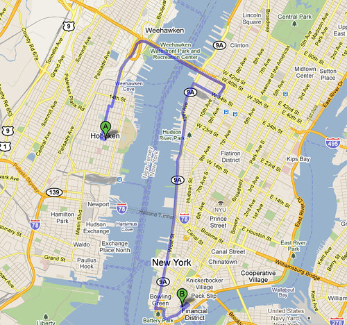 Google Maps Avoids The Holland Tunnel In New York
