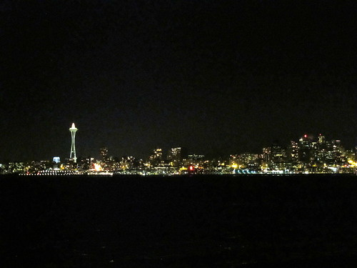 nighttime view from alki