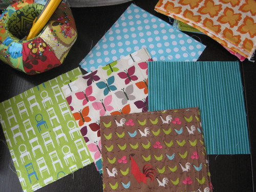 Fun Fabrics for Rag Baby Quilt