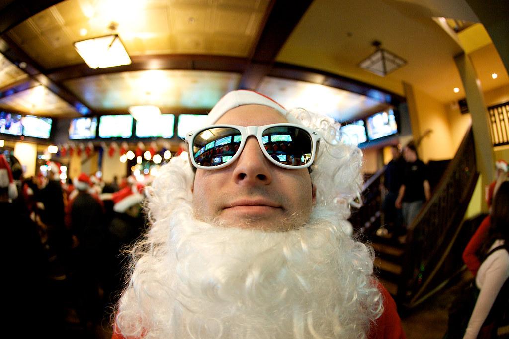 Fisheye Santa