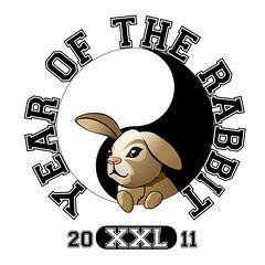 Year of the Rabbit (circle XXL) (OnTask) Tags: rabbit design graphic character year chinese yang yinyang yin xxl cafepress 2011