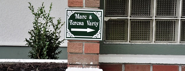 Marc & Teresa house sign crop