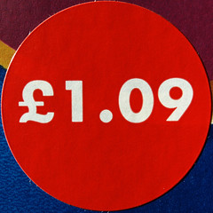 Sticker (chrisinplymouth) Tags: red price circle sticker label round squaredcircle squircle pricetag cw69x 109