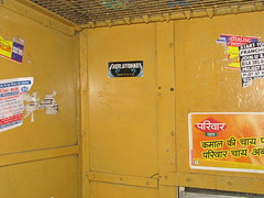 Everlutionary Sticker spotted on Mumbai Train