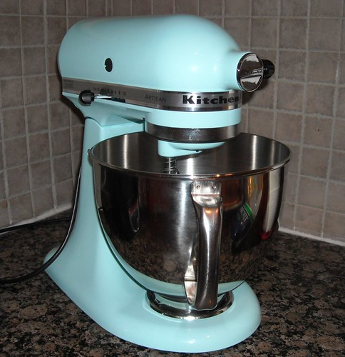 my new Kitchenaid--ice blue