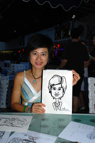 Caricature live sketching for VISA Beach Party 2010 -26