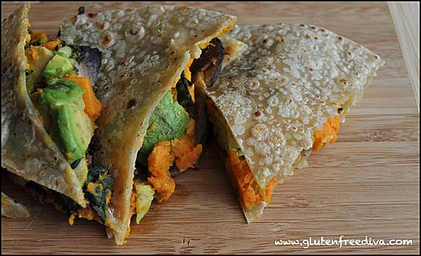 Post image for Brown Rice Wrap with Sweet Potato, Avocado, & Kale