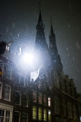 The Will-o'-the-Wisp Is in the Town! (Dmitry Chastikov) Tags: street winter snow amsterdam night lights pentax sigma sigma30mmf14dc dirty snowfall thirty 30mm sigma3014 фото k20d 20101204imgp3293cr11e дмитрийчастиков