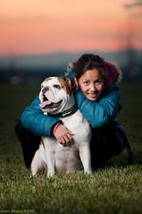 Tuesday at the park (bugsick25) Tags: california ca light sunset english one nikon bokeh sb600 bulldog adobe nikkor fontana f28 bernardino lightroom 80200 d90