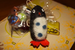 Penguin Felted Ornament