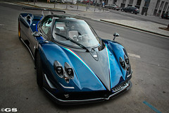 #1: Pagani Zonda Tricolore (Germanspotter) Tags: auto street car canon germany munich mnchen deutschland photography eos spot exotic dslr gs find supercar sportscar zonda 2010 pagani tricolore sportwagen 450d carparazzi autogespot germanspotter