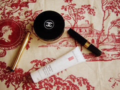 in my makeup bag (Le Portillon) Tags: beauty saint cream makeup powder hour mascara yves chanel eight laurent arden touche eclat