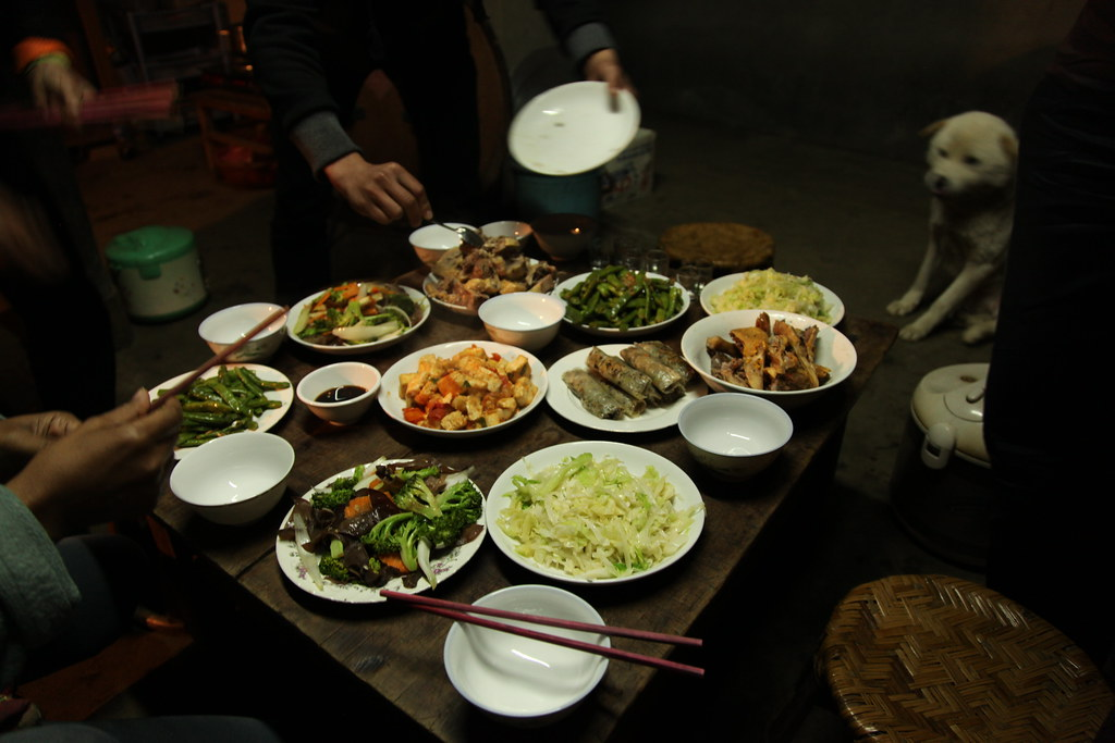 Homestay dinner, near Sapa by Jeremy Weate, on Flickr
