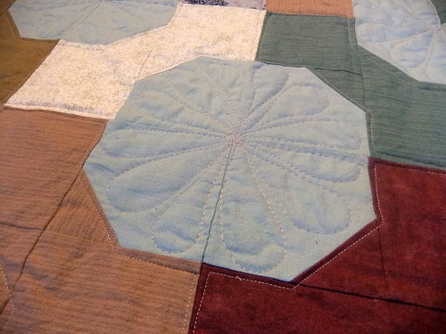 detail front quilting