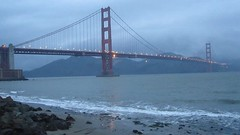 Happy New Year ! () Tags: sf sanfrancisco california bridge vacation mist mountain storm cold praia wet rain northerncalifornia fog architecture clouds design mar video twilight montana rocks surf shine live marin thecity windy architectural goldengatebridge rainy highdefinition marincounty fortpoint hd lowtide happyholidays raining suspensionbridge movingpicture montaas kalifornien sfist marinedrive  ggnra amature ggb presidioofsanfrancisco hdvideo southtower northtower saofrancisco 2011 livevideo felizaonuevo bjerg flickrvideo  vuori   farfromhome marinedr californi  amaturevideo    january12011 01012011 january1st2011 january012011