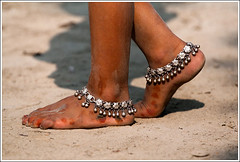 Romancing the earth [..Chuadanga, Bangladesh..] (Catch the dream) Tags: dusty feet girl silver children happy dance earth steps soil ornaments barefoot barefeet dust bangladesh position nupur happyfeet chuadanga payel ailhash gettyimagesbangladeshq2