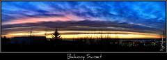 Balcony Sunset January 5. 2011 (Sig Holm) Tags: sunset night clouds island iceland islandia nightsky sland islande icelandic nacreous nacreousclouds islanda 2011 seltjarnarnes mybalcony glitsk ijsland islanti     slenskt