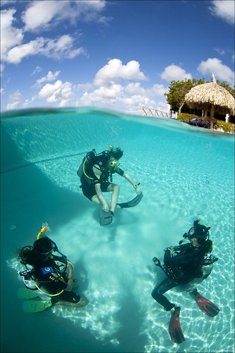 Learning how to Scuba-dive