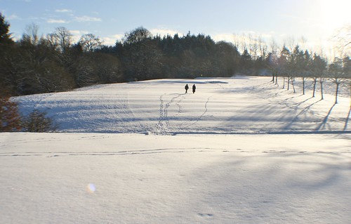 Snow covered Golf Course, Southside Glasgow