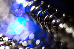 steel_bokeh (Gerilla) Tags: blue light shadow detail macro closeup canon grey aqua dof mesh bokeh steel gray tube cyan sigma led chain glove flashlight extension stainless maglite extensiontube kenko 50d xl100 gerilla canon50d cmwd cmwdblue sigmaex105mm128dg maglitexl100led